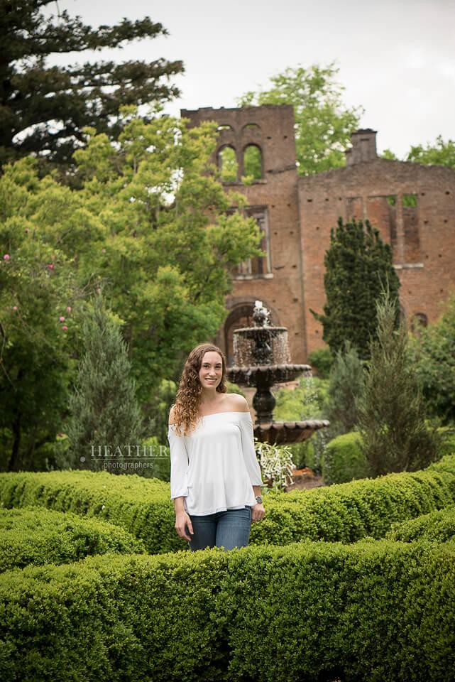 Senior Portraits At Barnsley Gardens Resort Adairsville Ga Heather Photographers