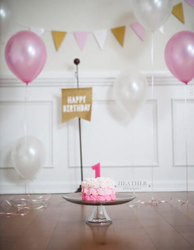 1st birthday photoshoot pink