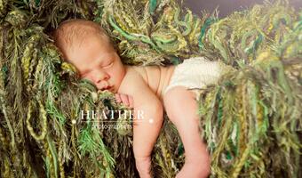 Newborn Hank & His Sisters – Portraits – Canton, GA