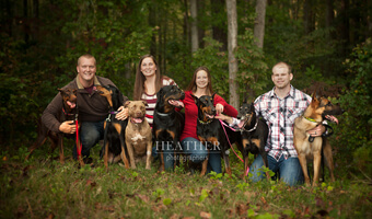 Jaymie & Krista's Combined Autumn Family & Pet Portrait Sessions – Canton, GA