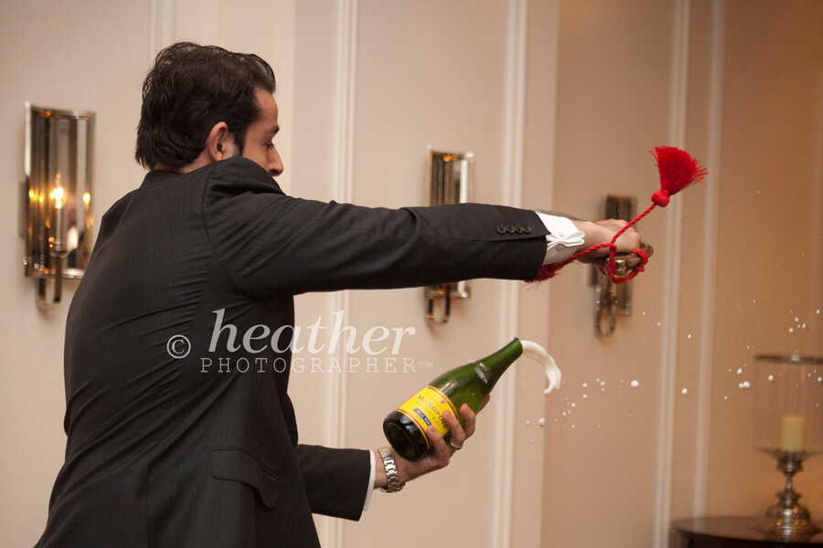 Centuries-old tradition of Champagne sabering at the St. Regis